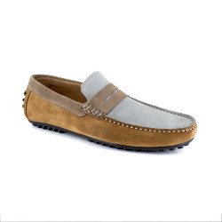 Loafer J.Bradford Grey Leather JB-ARUBA