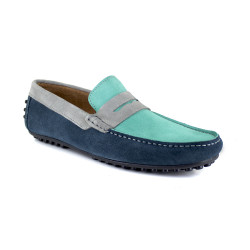 Loafer J.Bradford Green Leather JB-ARUBA