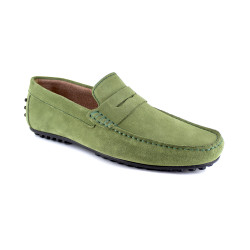 Loafer J.Bradford Green Leather JB-AITOR