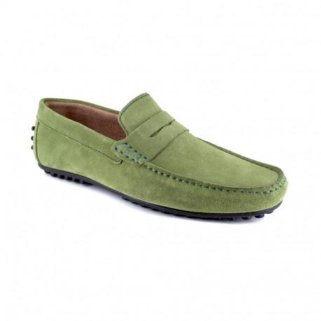 Loafer J.Bradford Green Leather JB-AITOR