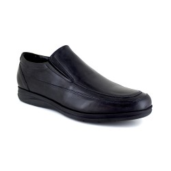 Moccasin J.Bradford Black Leather JB-ZEUS