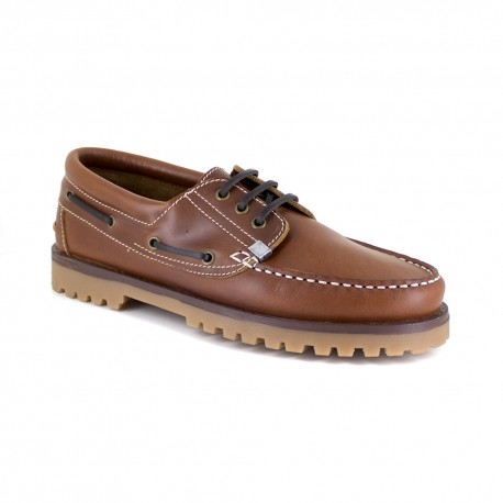 Boat Loafer J.Bradford Cognac Leather JB-AULAY511