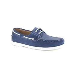 Boat Loafer J.Bradford Blue Jeans Leather JB-POUPE