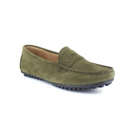 Loafer J.Bradford Oliver Green Leather JB-LEVANTE