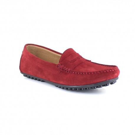 Loafer J.Bradford Red Leather JB-LEVANTE