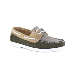 Boat Loafer J.Bradford Green Leather JB-BABORD