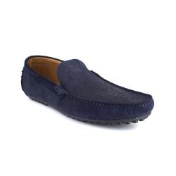 Loafer J.BRADFORD Navy Blue Leather JB-ALIZE