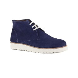 Womens Low Boots J.Bradford Navy Blue Leather JB-ELIZA