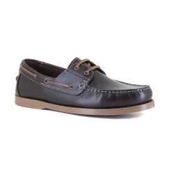 Mens Boat Shoe J.Bradford Brown Leather JB-CLASSE