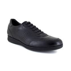 Mens Sneaker J.Bradford Black Leather JB-NEWPORT111
