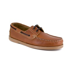 Mens Boat Loafer J.Bradford Cognac Leather JB-CANOA