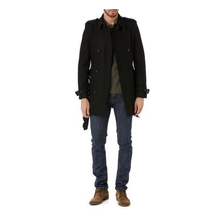 style actuel original dégagement Veste en laine J.Bradford Noir TOMI