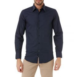 Shirt J.BRADFORD Navy Blue Fabric EDEN