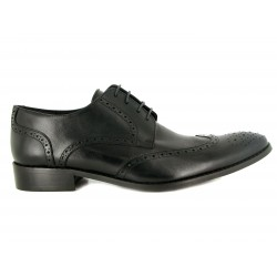 J.Bradford Derby man shoes black leather