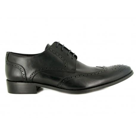 J.Bradford Derby man shoes black leather