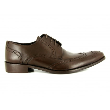 J.Bradford Derby to dress man shoes brown leather