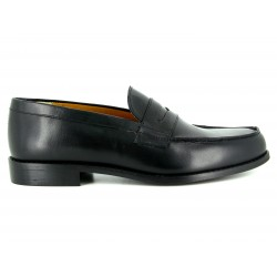 J.BRADFORD Man shoes black leather PAUL