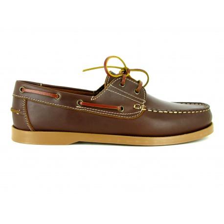 Chaussures Homme J.Bradford Bateau Cuir Marron BOAT-MA