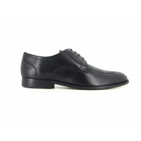 J.Bradford Black leather shoes for man JB-BOOSTER