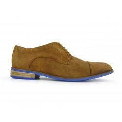 Zapato Hombre  J.BRADFORD Nautico Cuero Azul Marino BOAT-MAR