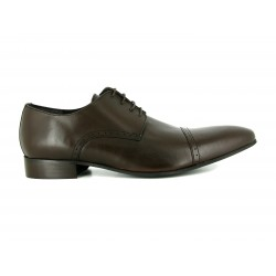 J.BRADFORD brown leather shoes for man ADAM