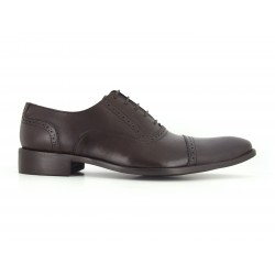 J.Bradford Brown leather shoes for men GLUM