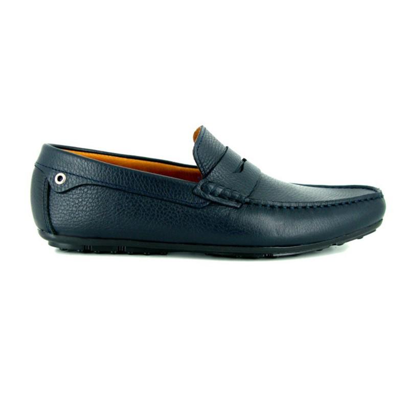 Mocasín J.Bradford Cuero Marino - Color - Marine, Talla Zapatos - 45