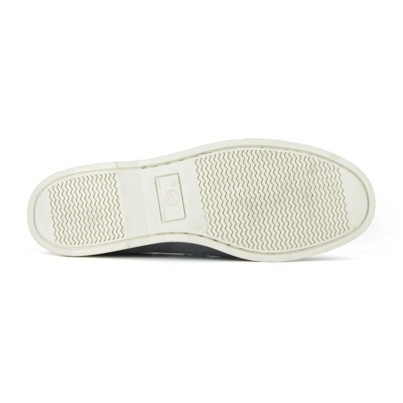 Zapato Hombre J.Bradford - Nautico Cuero Azul Marino BOAT-MAR - Color - Azul, Talla Zapatos - 45