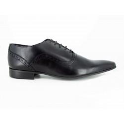 J.Bradford Zapatos Hombre De Vestir Richelieu Cuero Negro RICK