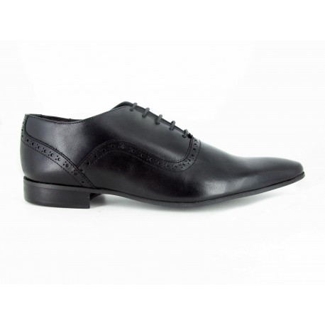 962ec628e2b773 J.Bradford Chaussures Homme De ville Richelieu Cuir Noir RICK