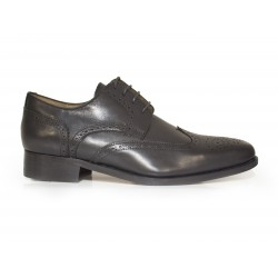 J.Bradford man shoes black leather BAURENT