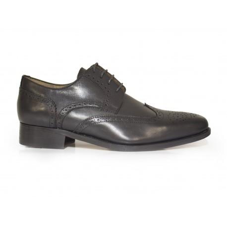 J.Bradford Zapatos Hombre Richelieu Cuero Negro JB-Baurent