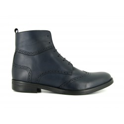J.Bradford man shoes boots blue navy leather JB-VICTOR