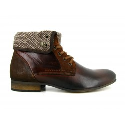 J;BRADFORD Man Brown Leather Boots JB-SIMEON