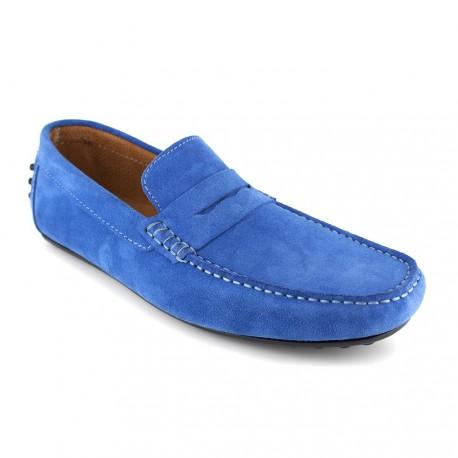Mocassin J.Bradford Cuir Bleu Ciel JB-ROBE - Couleur - Bleu ebZw5PisER