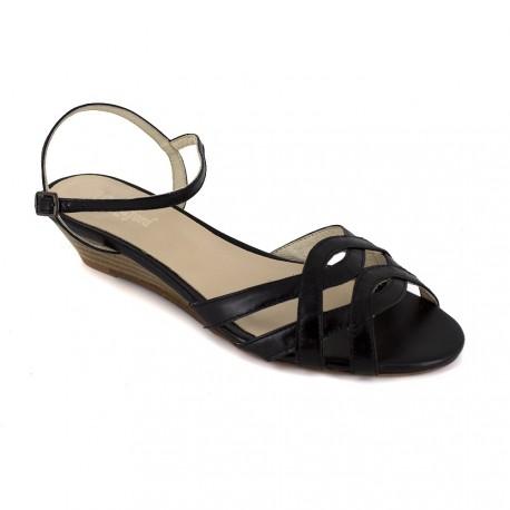 J.bradford Sandale Cuir JB-MARIA Noir - Livraison Gratuite avec  - Chaussures Sandale Femme
