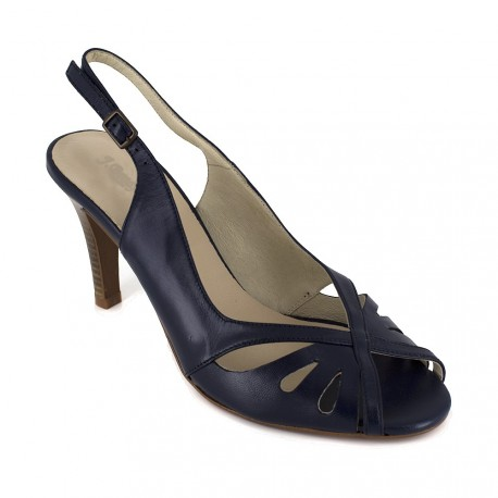 J.bradford Sandale  Cuir JB-AITANA Marine - Livraison Gratuite avec  - Chaussures Sandale Femme