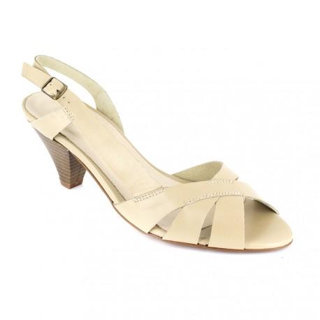 J.bradford Sandales Cuir JB-ELSA Beige - Livraison Gratuite avec  - Chaussures Sandale Femme