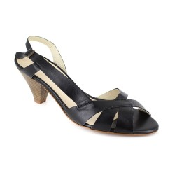 Sandal J.Bradford Black Leather JB-ELSA
