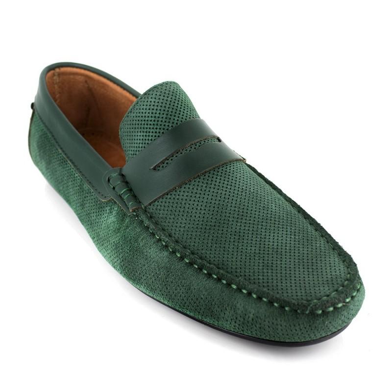 Cuir Vert J.bradford Brogues - Couleur - Vert, Taille De Chaussures - 45