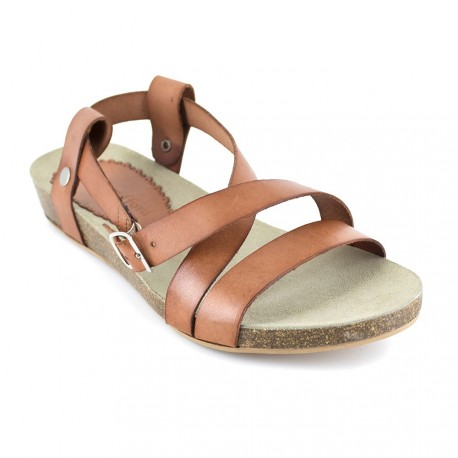 J.bradford Sandale  Cuir  JB-ANAIS Camel - Livraison Gratuite avec  - Chaussures Sandale Femme
