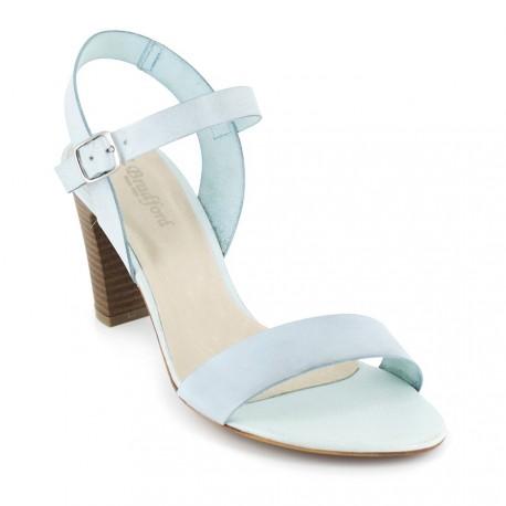 J.bradford Sandale  Cuir  Ciel JB-ALFA Bleu - Livraison Gratuite avec  - Chaussures Sandale Femme