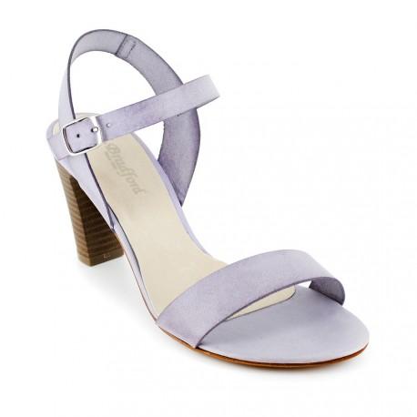 J.bradford Sandale  Cuir Mauve JB-ALFA Mauve - Livraison Gratuite avec  - Chaussures Sandale Femme