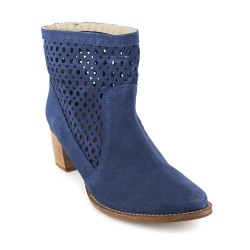 Bottine J.Bradford Cuir Bleu JB-ALTEA