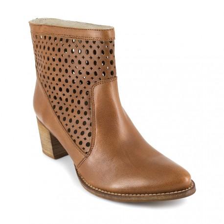 J.bradford Bottine  Cuir  JB-ALTEA Camel - Livraison Gratuite avec  - Chaussures Bottine Femme