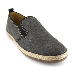Slippers J.Bradford Black Fabric JB-TROMPA