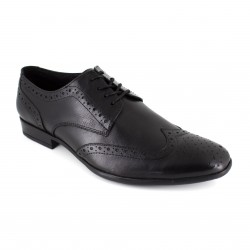 J.BRADFORD Man Black Leather Shoes Derby FORDCOMBO