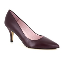 Stiletto J.Bradford Burgundy Leather JB-NATALIA