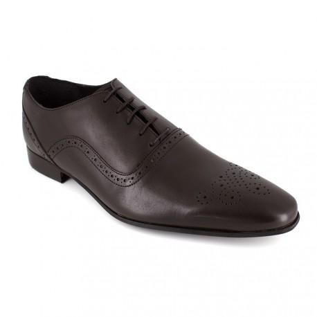 J.bradford Richelieu  Cuir  JB-ROBION Marron - Chaussures Richelieu Homme