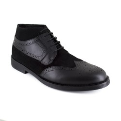Low Boots J.Bradford Black Leather JB-BUVEZ